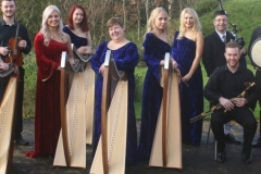 The Irish Harp Orchestr ready to play in Munich